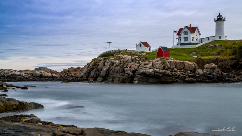 Silky water, at Cape Neddick (Nubble) Light (1879)