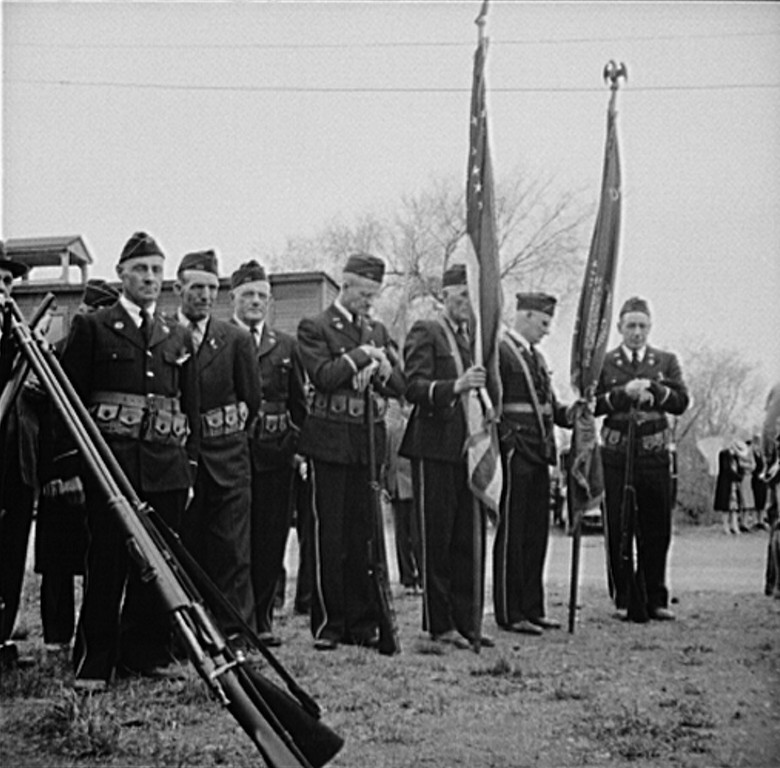 . Ashland, Aroostook County, Maine. Memorial Day ceremonies, 1943. John Collier, Photographer.  Courtesy the Library of Congress