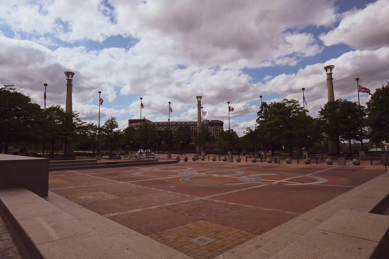 Centennial Park Fountain of Rings