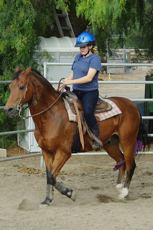 Madison's horseback riding lessons 9/30/11