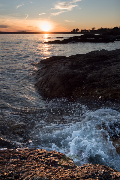 End of Day, Ocean Point, East Boothbay, Maine  (19295-19302)