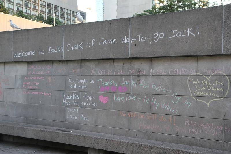 Jack Layton Memorial at City Hall