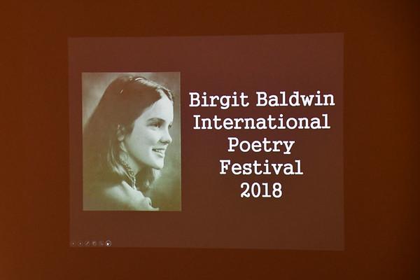 Birgit Baldwin International Poetry Festival 2018