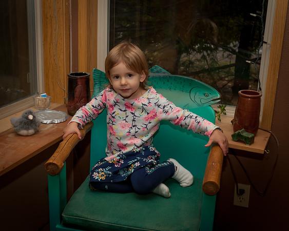 Olivia visits Vashon Island, November 2017