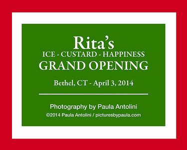 RITA'S GRAND OPENING ~ Bethel, CT ~ April 3, 2014