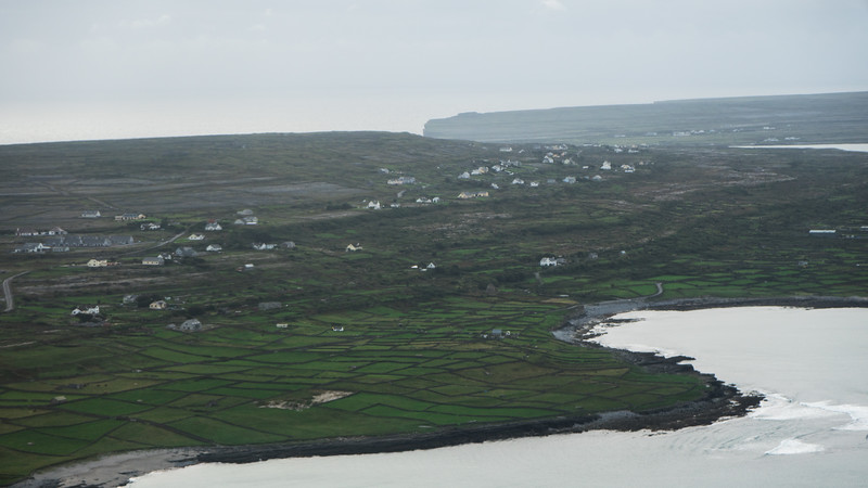 Coming in for landing at Inis Mor, Aran Isles, Ireland