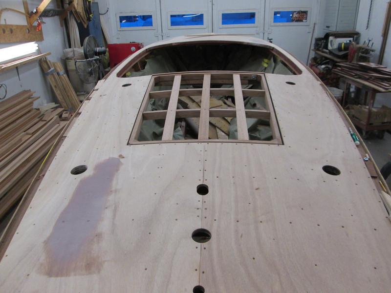 Engine hatch cover framing complete.