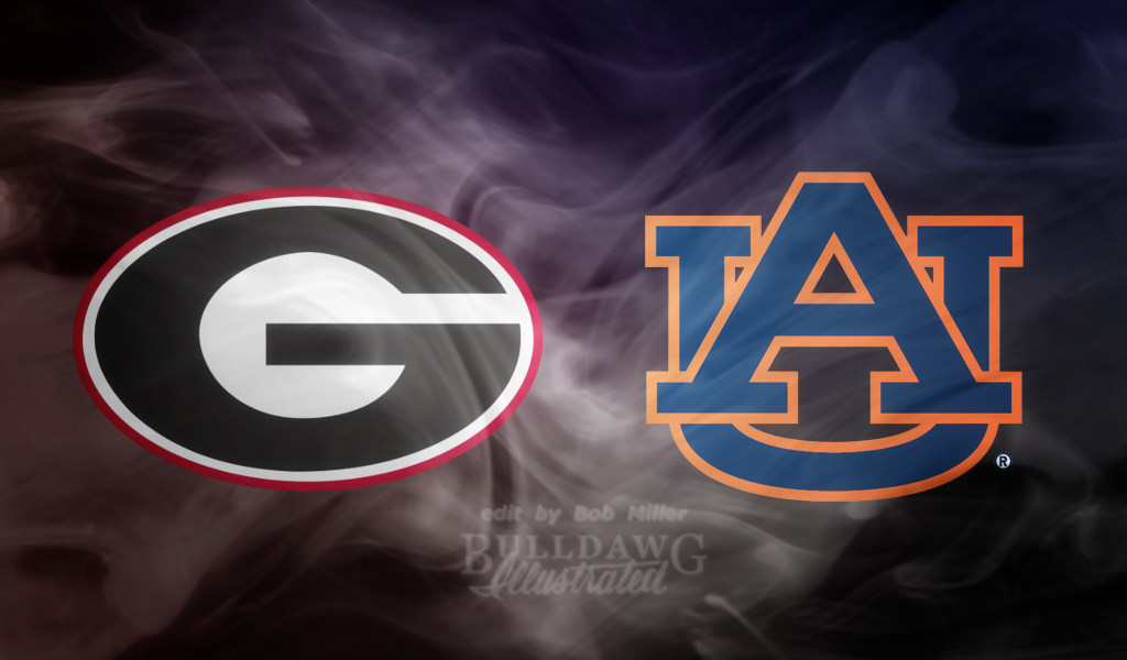 2019 Georgia vs. Auburn logo edit by Bob Miller with LOMO, MAKE WONDERFUL, and SMOKE effect