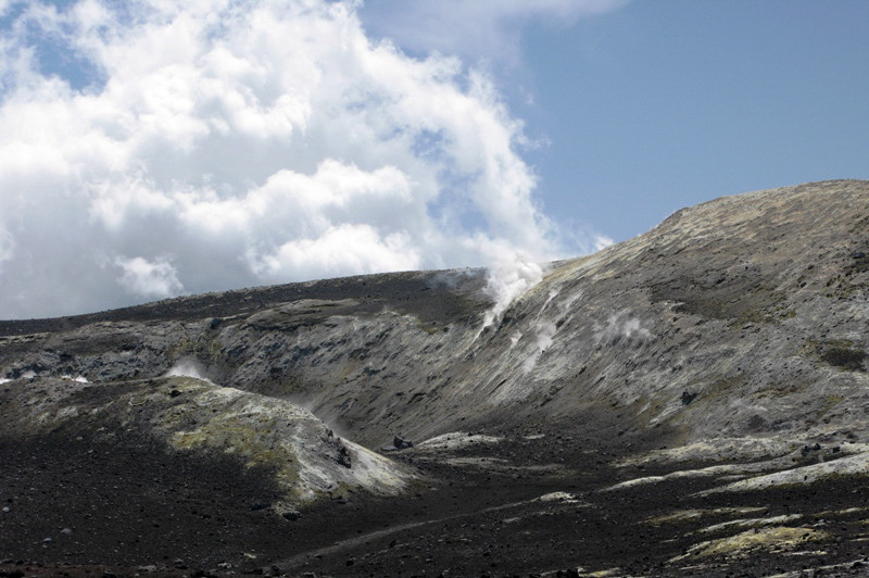 Fumeroles on top of Mt Etna