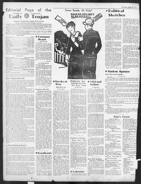 Daily Trojan, Vol. 26, No. 124, April 25, 1935