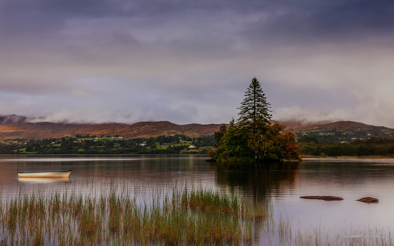 Idyllic setting on Lough Eske