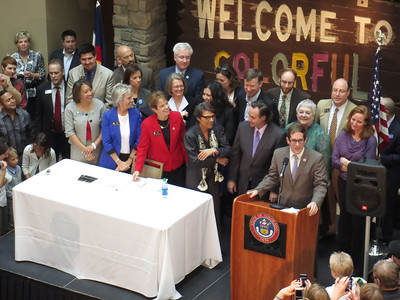 Colorado Civil Union bill signed into law - 3/21/13