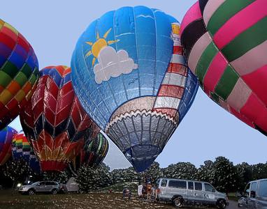 Hot AIr Balloons  Plymouth Indiana 09 01 2013