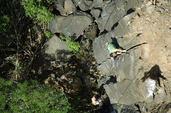 Grahm on Black Gold? 5.13b at the Gold Wall