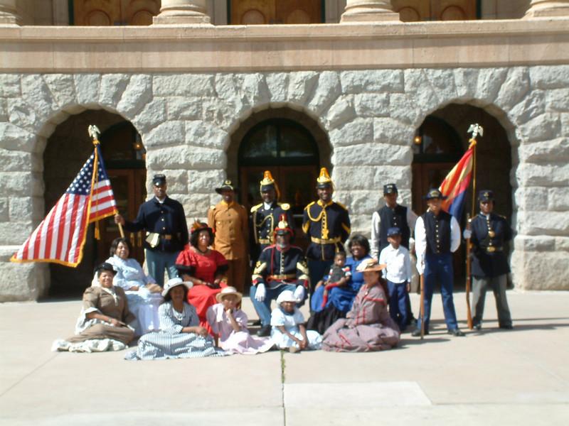 Buffalo Soldiers of the Arizona Territory - Ladies and Gentlemen of the Regiment, Headquarters Mesa, Arizona.  March 5, 2011