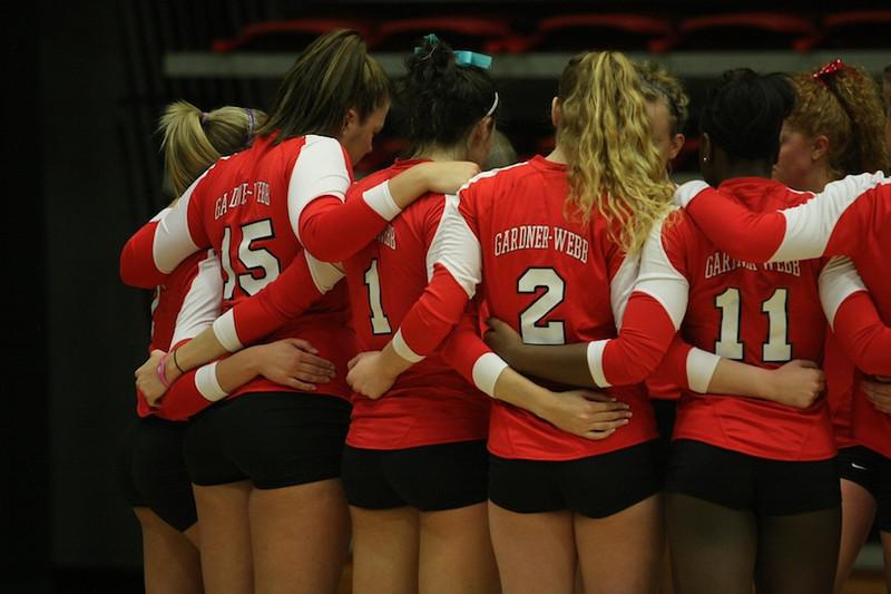 Team huddle.