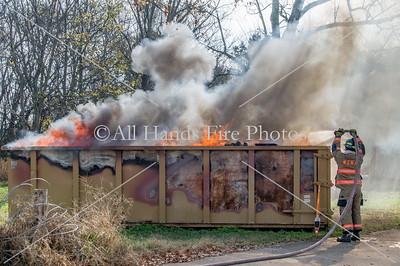 20171110 - Unincorporated Mount Juliet - Dumpster Fire