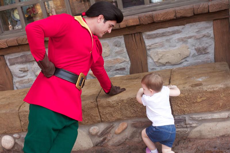 Ellen was not impressed with Gaston..jpg