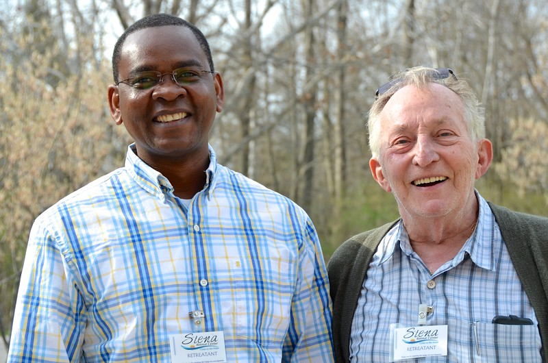 Fr. Joseph, a post-graduate student from Congo, and Fr. Claude, who served as a missionary to Congo for many years.