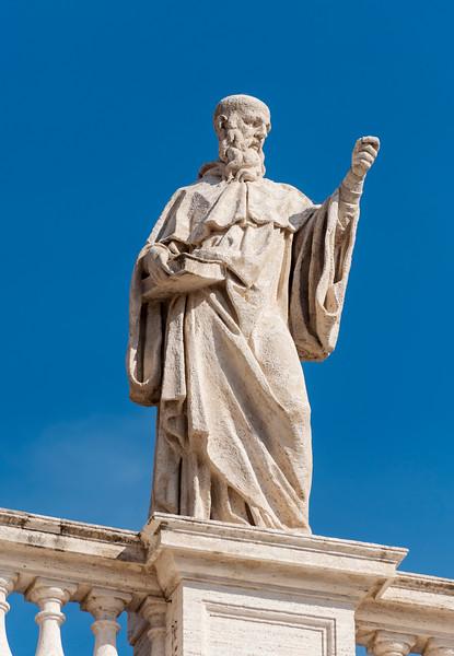 St. Benedict, Bernini colonnade