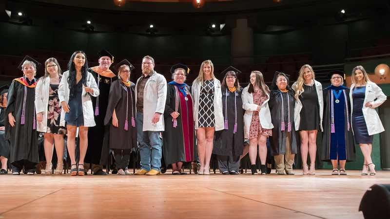 Nursing students received their white coats during the White Coat Ceremony on February 21st in the Performing Arts Center.