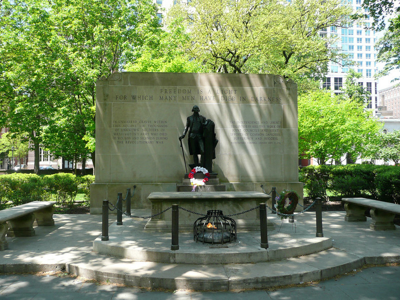 Washington Square - Tomb of the Unknown Soldier of the American Revolution.