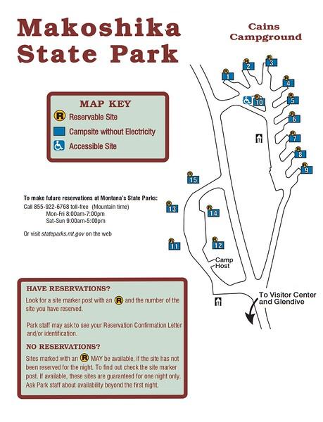 Makoshika State Park (Campground Map)