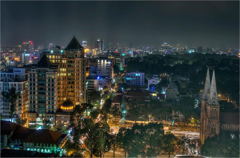 Downtown Saigon, Vietnam.