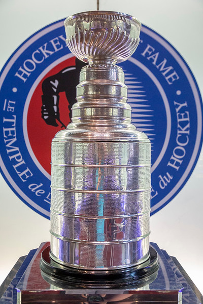 Lord Stanley's Cup housed in the Great Hall at the Hockey Hall of Fame. Can you hear the angels singing?