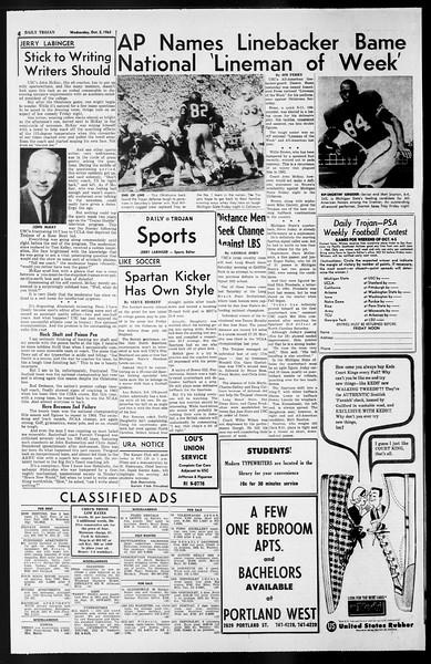 Daily Trojan, Vol. 55, No. 8, October 02, 1963