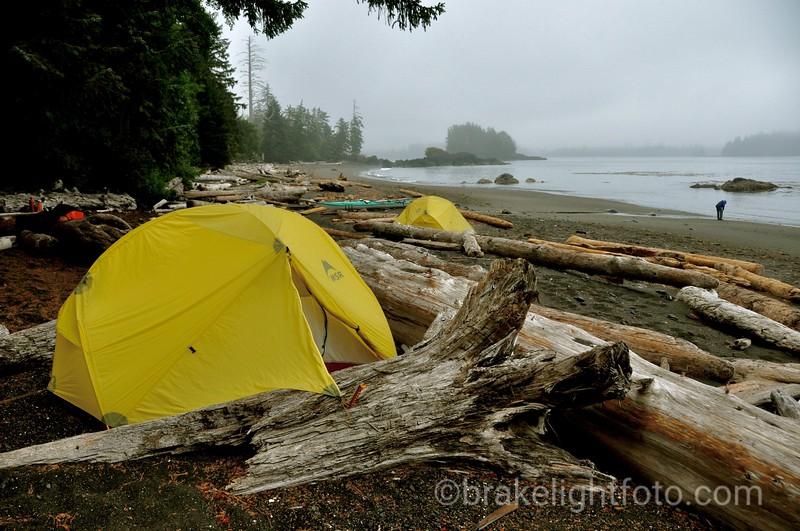 Camp at north side of Side Bay