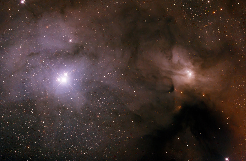 IC4604 + IC4603 Rho Ophiuchi Complex - 23/5/2015 (Processed cropped stack)