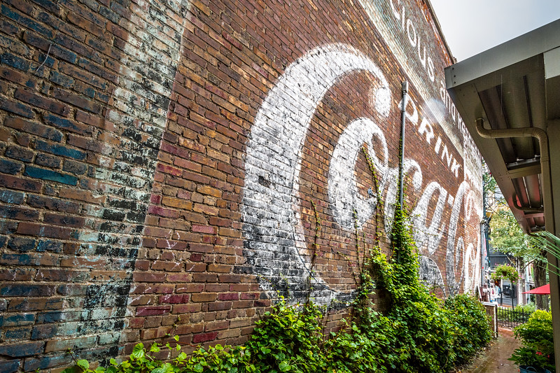NC, Asheville - Coca-Cola Wall Signs 02