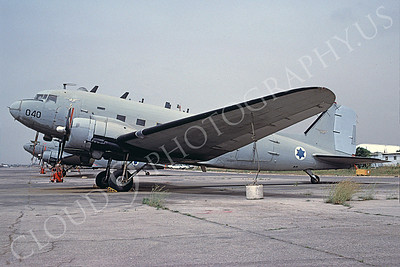 Israeli Air Force Douglas C-47 Skytrain Troop and Cargo Transport Airplane Pictures for Sale