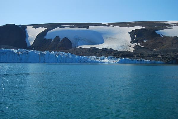 Greenland-Calving Glacier