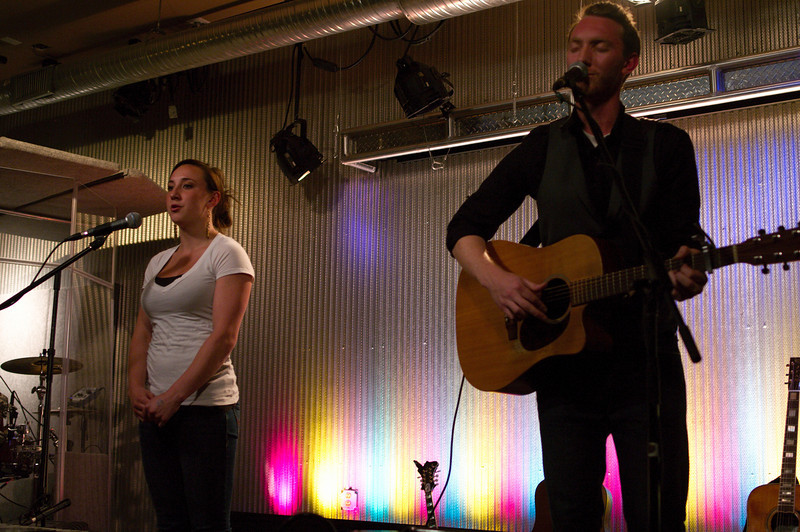 Dan's sister, who lives in town, came up to sing BGVs on a couple tunes.