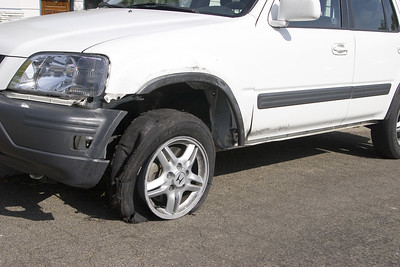 CR-V tire blowout