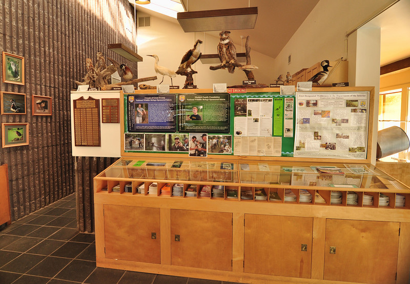 Great Swamp Refuge Welcome Center lobby