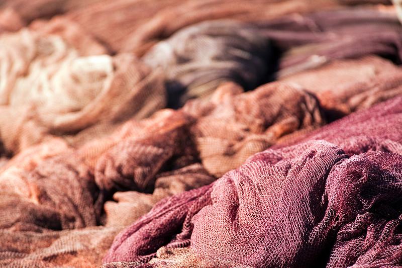 Fishing nets. Bonanza ports, town of Sanlucar de Barrameda, province of Cadiz, Andalusia, Spain.