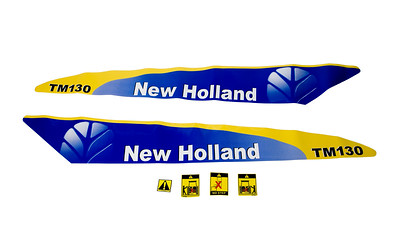FORD NEW HOLLAND TM 130 SERIES BONNET DECAL SET