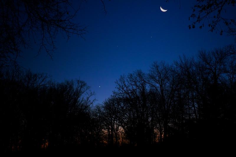 12.12.17 - Prairie Creek Recreation Area: Luna, Jupiter, Spica, and Venus