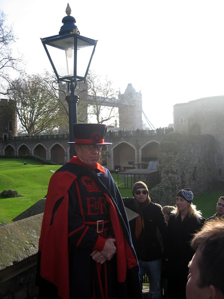 A member of the Yeoman Warders, guardians and guides of the Tower since 1485