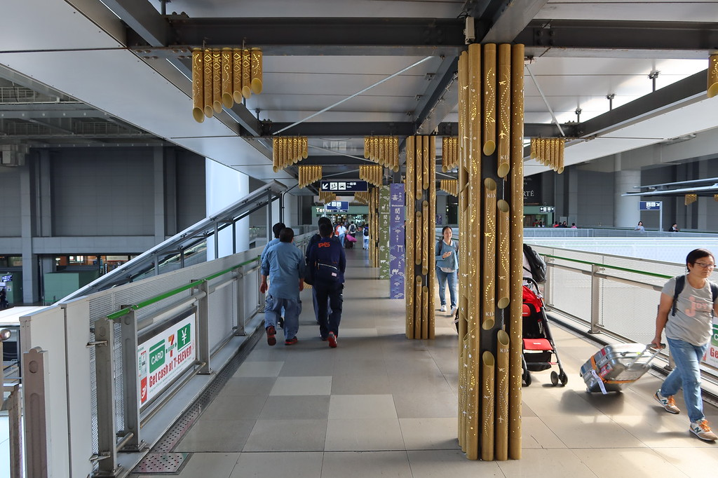 Bridge from train station to Terminal 1