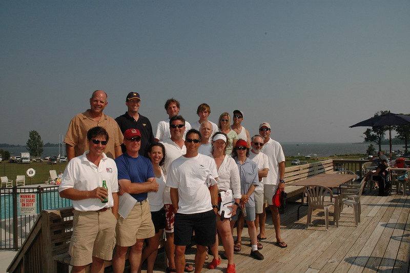 6/18/2006 - Rock Hall Yacht Club Annual Regatta - Mitch Greib, George Lewis, Nicholas Place, Jon Deutsch, Bob Tan, Dianne Burton, Jane Schmidt, Mike Schmidt, Jacob Donkersloot