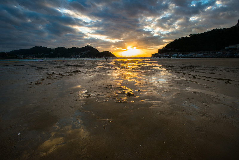 Sunset over the Bay of Biscay, San Sebastian