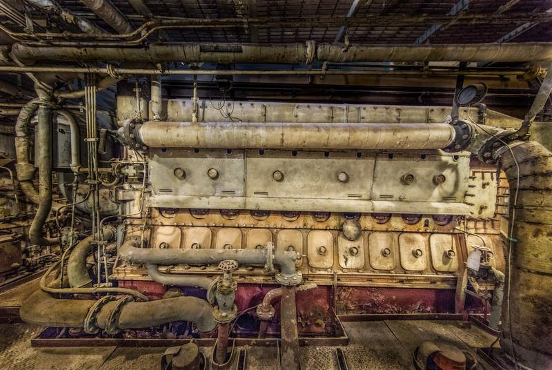 USS Stewart (DE-238) 1943. One of four engines. Presently being restored. Galveston TX