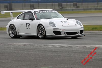 Porsche Racing at Auto Club Speedway 4 11 2010