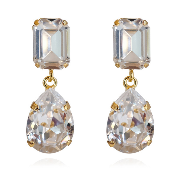 Lydia Earrings / Crystal Gold
