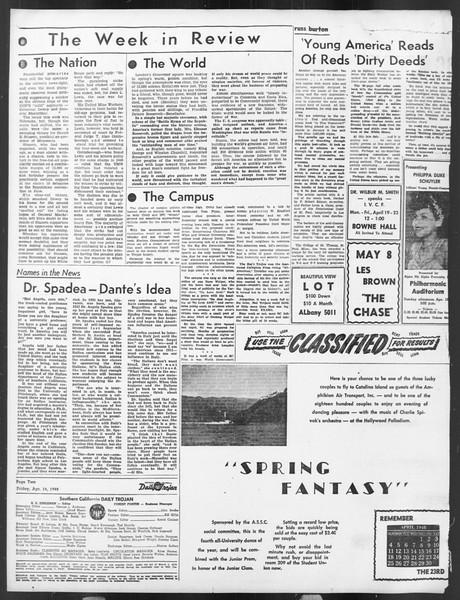 Daily Trojan, Vol. 39, No. 120, April 16, 1948
