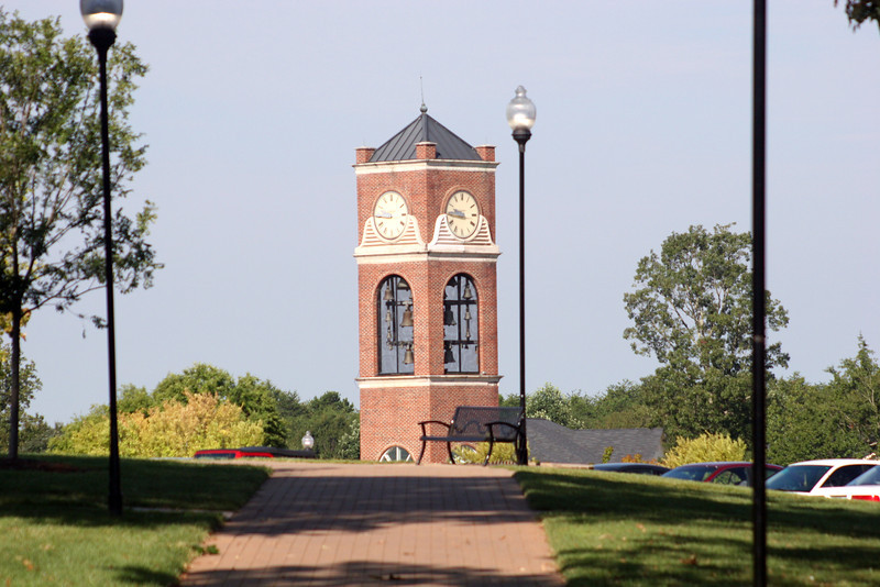 A view of the bell tower on a September day at Gardner-Webb University.